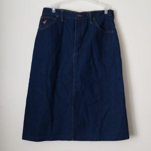 Wrangler jean skirt size 14